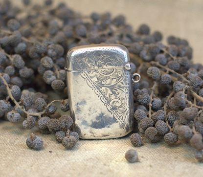 antiek zilveren tondeldoosje1902