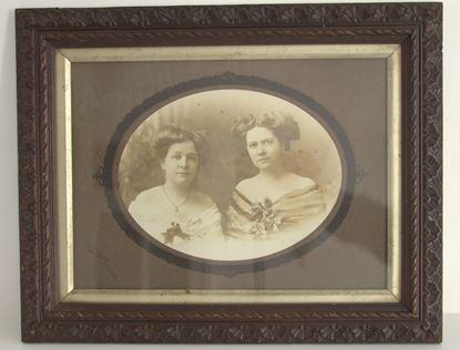 vintage foto in houten lijst