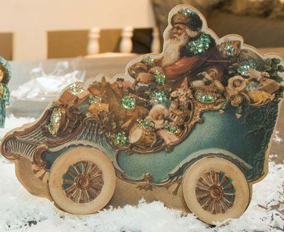 kaart santa in auto