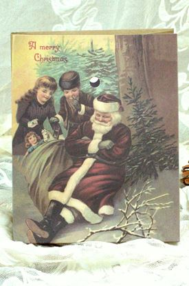 Picture of NOSTALGIC CHRISTMAS GIFT WRAPPING BOY AND GIRL