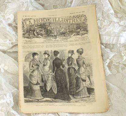 oud frans  victoriaans modeblad uit 1895