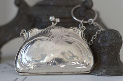 antiek zilveren beursje