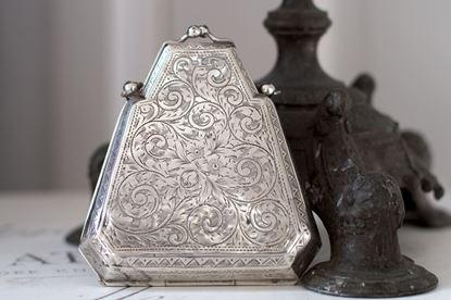 victroriaans zilveren beursje
