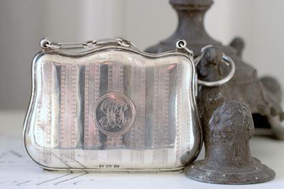 antiek engels zilveren beursje 1919