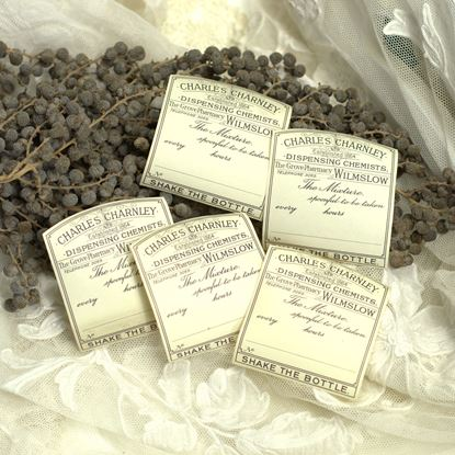 vintage  ongebruikte apothekers etiketten