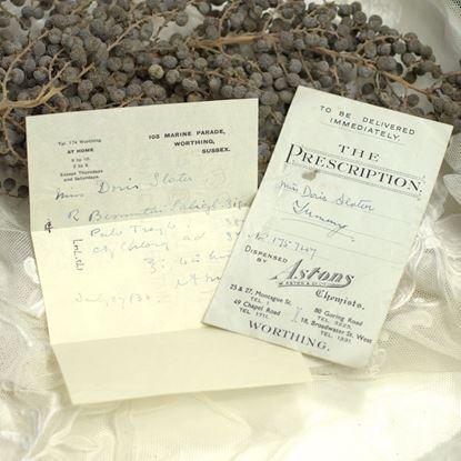 vintage Engels dokters recept