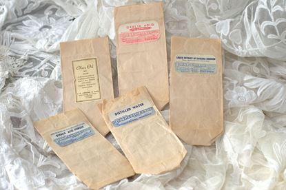 vintage apothekers zakjes