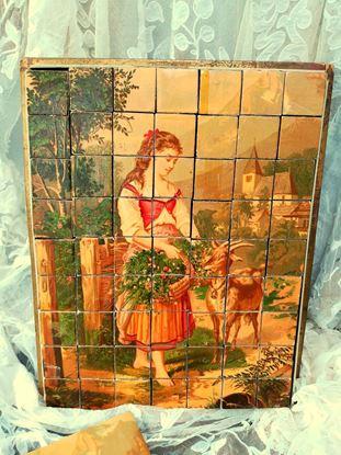 viktoriaanse houten blokken puzzels