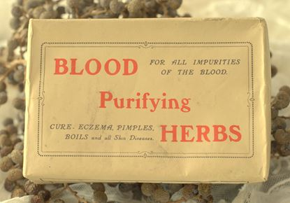 vintage verpakking medicinale kruiden