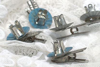 brocante kaarshoudertjes clip voor kerstboom