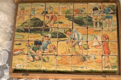 vintage houten blokken puzzel