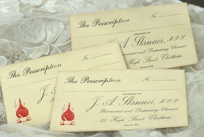 vintage envelope van recepten van apotheker