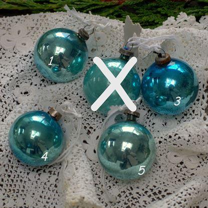 brocant blauw kerstballetje