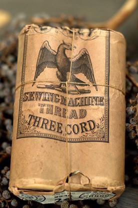 vintage verpakking klossen naaigaren Eagley