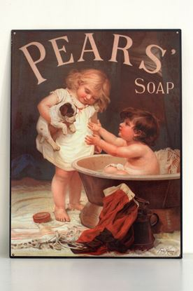 brocante reclamebord pears soap