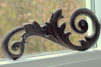 sierlijk brocante gekruld ornament