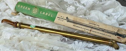 vintage koperen vernevelaar met originele verpakking