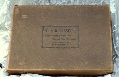 vintage bruine verpakkingsdoos