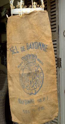BROCANTE FRANSE JUTE ZAK VAN SEL DE BAYONNE
