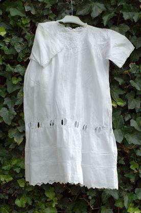 vintage wit katoenen jurkje