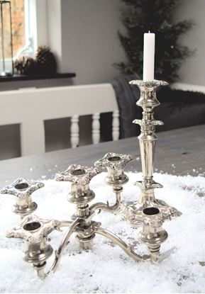 Picture of SINGLE OR MULTIPLE SILVERED ENGLISH CANDLE