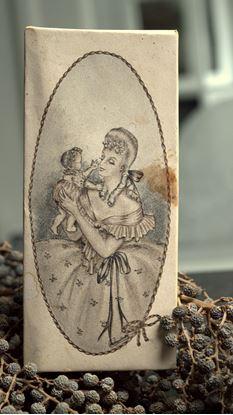 vintage doosje moeder en kind