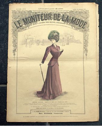 Picture of OLD FRENCH FASHION MAGAZINE LE MONITEUR DE LA MODE FROM 1907