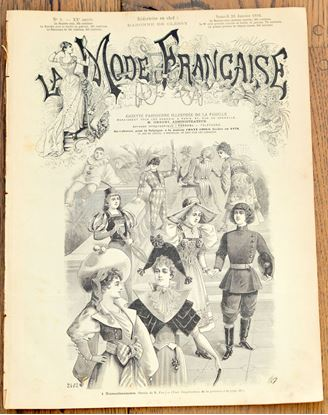 Picture of ANTIQUE FASHION FRENCH FASHION MAGAZINE 'LA MODE FRANCAISE' FROM 1894