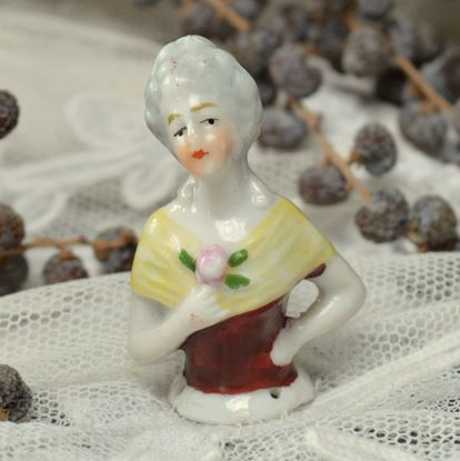 Picture of VINTAGE BORDEAUX RED HALF-DOLL