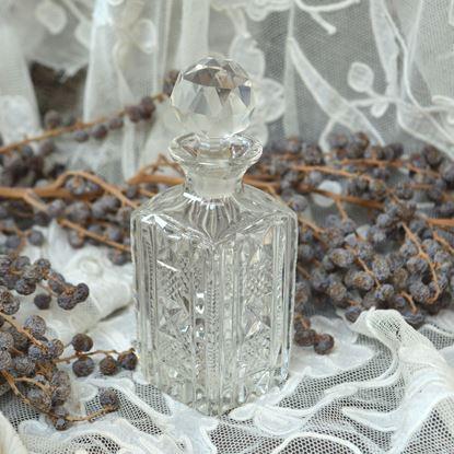 brocante geslepen kristallen parfumfles