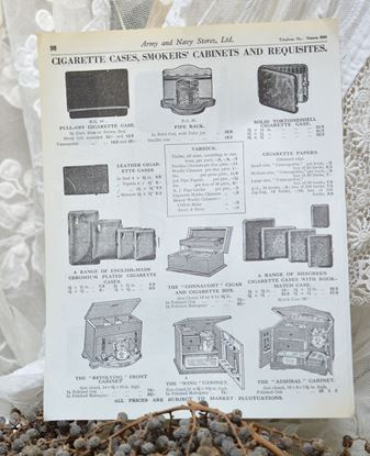 Picture of VINTAGE PAGE FROM A CATALOG OF A DEPARTMENT STORE WITH SMOKING GOODS