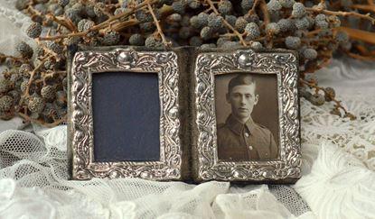 oud zilveren dubbel fotolijstje